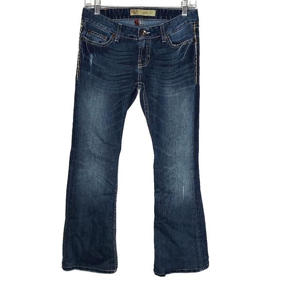 BKE Emma Bootcut Stretch Denim Distressed Jeans 27